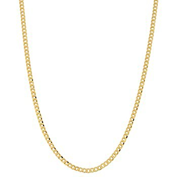 ARGENTO REALE 14K Gold 2.25MM Curb/Cuban Chain...