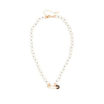 Maison Irem Women's Pearl Goldy Necklace, Gold...