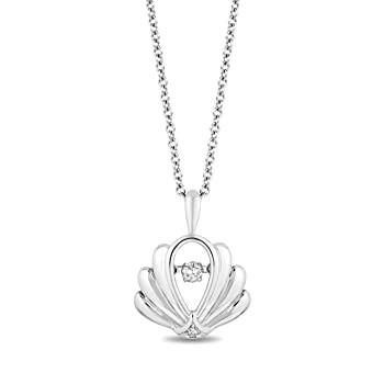 Jewelili Enchanted Disney Fine Jewelry Sterlin...