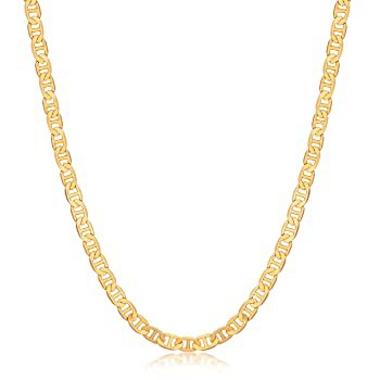 Mens Gold Chain Necklace | Barzel 18K Gold Pla...