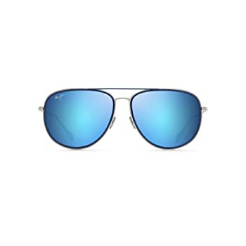 Maui Jim Fair Winds Aviator Sunglasses, Silver...
