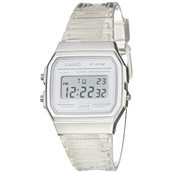 Casio Quartz Watch with Resin Strap, Clear, 20...