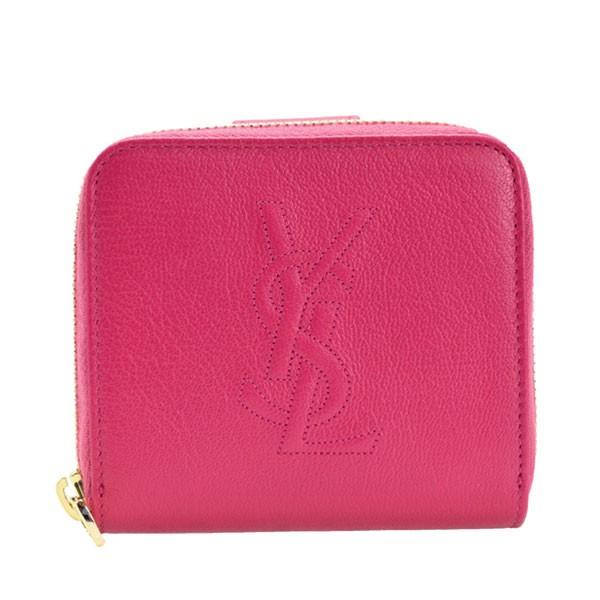サンローラン 財布 YVES SAINT LAURENT CHEVRETTE 2A 二つ折り財布 フーシャピンク レザー 352906cp20o5514 アウトレ レディース 女性 プ
