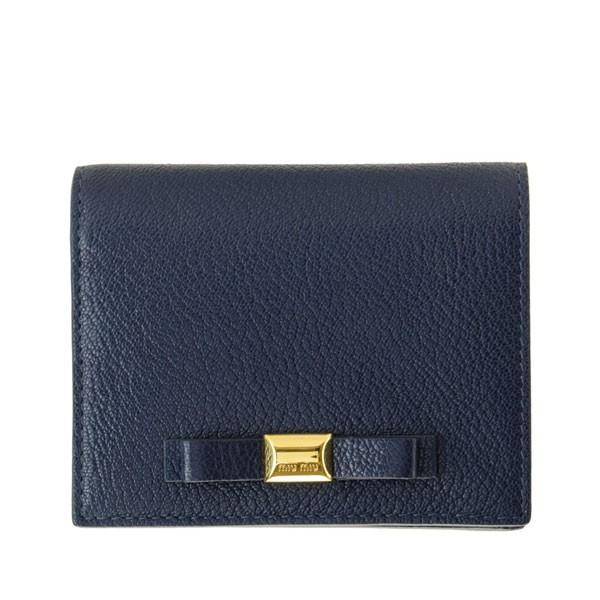 ミュウミュウ 財布 MIUMIU 二つ折り財布 リボン レディース 女性 プレゼント ブランド マドラス MADRAS アウトレット 5mv204mafi-inch-zz
