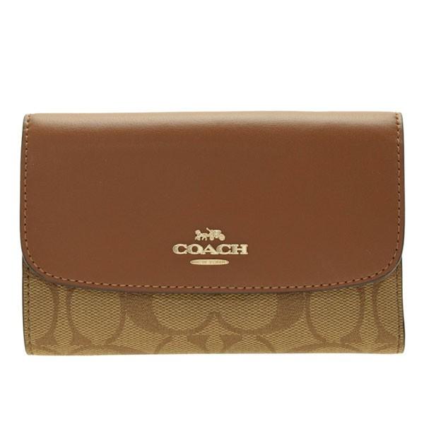 コーチ 財布 レディース 女性 プレゼント COACH 三つ折り財布 シグネチャー アウトレット f32485ime74 ブランド
