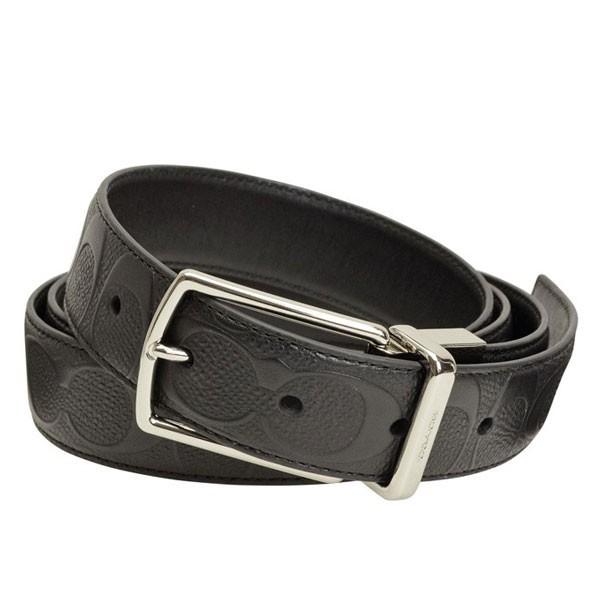 コーチ COACH リバーシブル メンズ  ベルト ブラック レザー f55158blk アウトレット