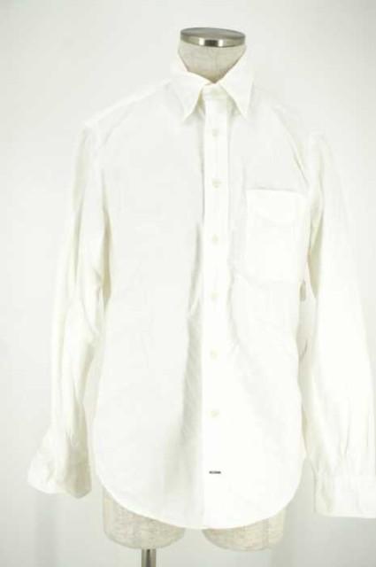 GITMANBROS ボタンダウンシャツ M ホワイト メン...