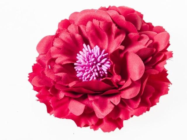 撮影用プラスチック製 大きめの花 可愛いヘアピン...