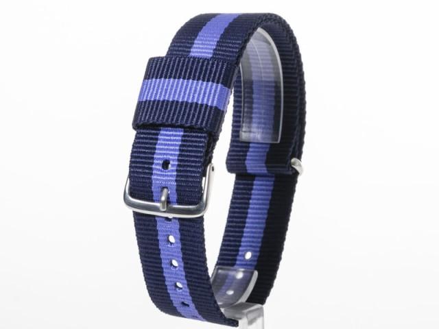 交換用 ナイロン製 腕時計 ベルト バンド 20mm#ブ...