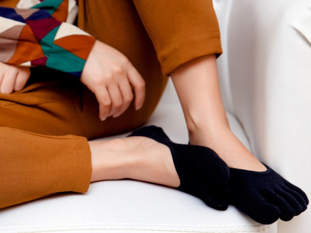 レディースファッション かわいい靴下 五本指 カ...