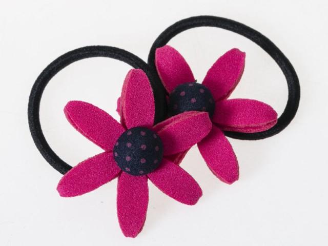 子供 大人 かわいい 花飾り フラワー ヘアゴム 髪...