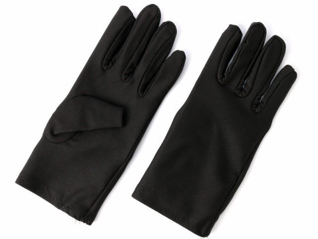 無地 日焼け止め UVカット ショート 手袋#ブラッ...