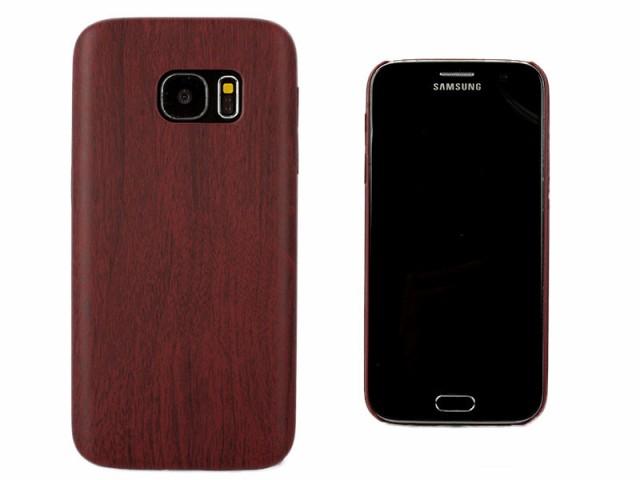 Samsung Galaxy S7 用 木目調 ウッド紋 保護防塵 ...