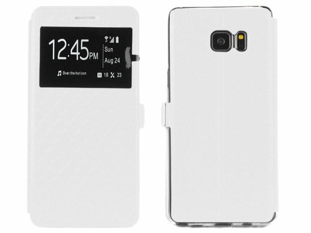 Samsung Galaxy Note 7 菱型柄 窓あり 手帳タイプ...