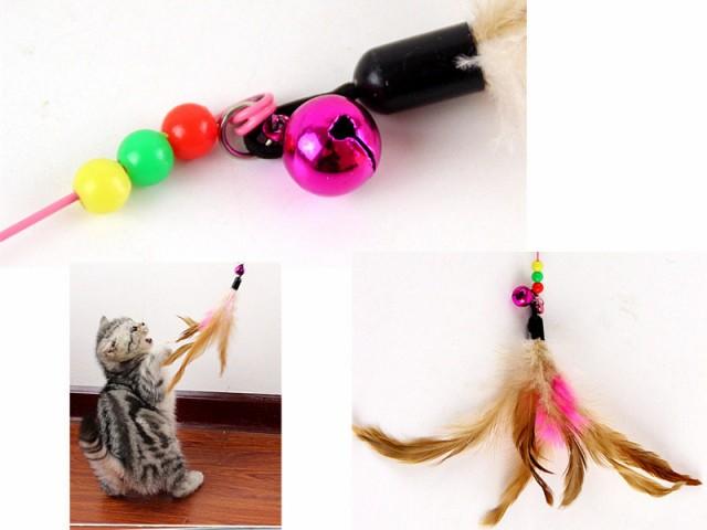 猫用/ニャンコ おもちゃ 玩具 猫じゃらし 鳥の羽 ...