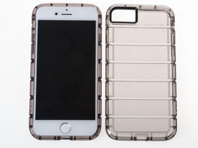Apple iPhone 7 用 透明縞模様 シリコン製 衝撃減...