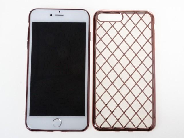 Apple iPhone 7 Plus 衝撃減少 お洒落 金属メッキ...