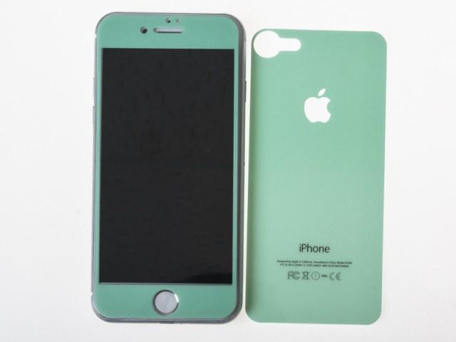 Apple iPhone 7 iPhone 8用 カラフル 前面液晶強...