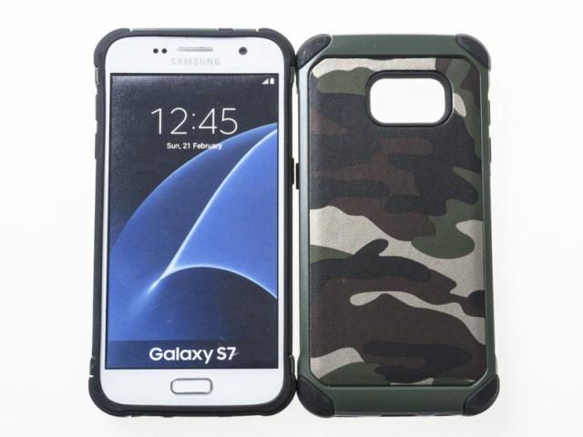 Samsung Galaxy S7 用 シリコン+PC樹脂製 衝撃減...