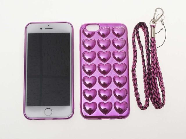 Apple iPhone 7 iPhone 8クロームメッキ 立体ハー...