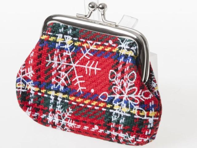 クリスマス柄 レディース 女性用 がま口 財布 小...