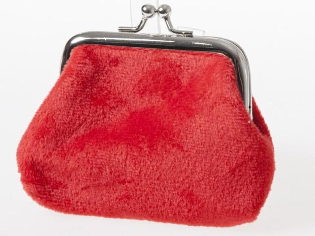 起毛布製 レディース 女性用 がま口 財布 小銭入...