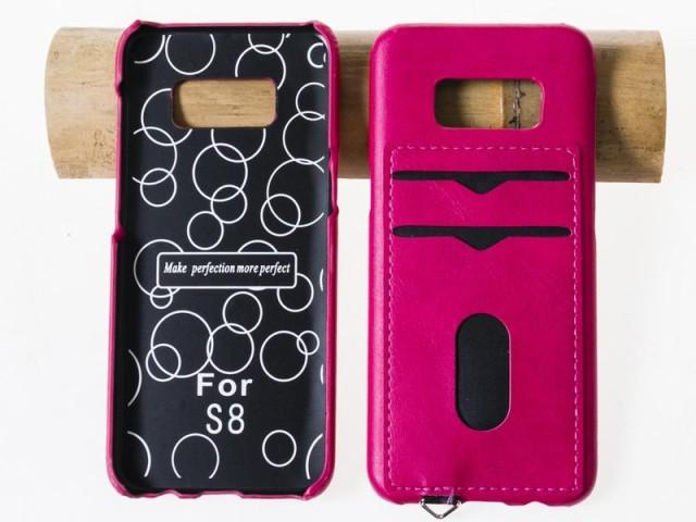 Samsung Galaxy S8 SC-02J/SCV36用 カード収納 PU...