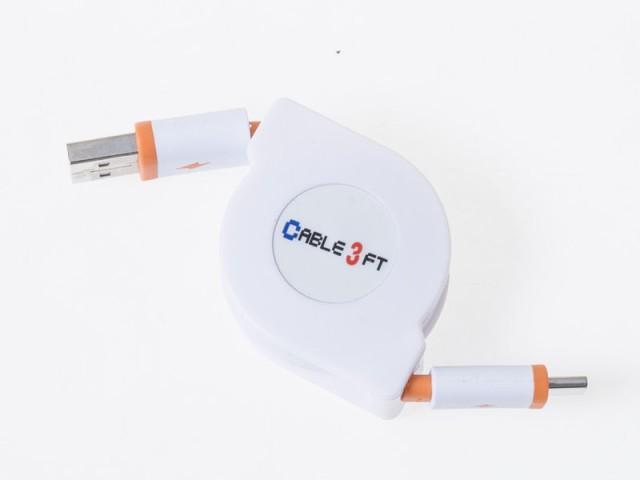 USBケーブル 巻き取り 伸縮タイプ USB to USB Typ...