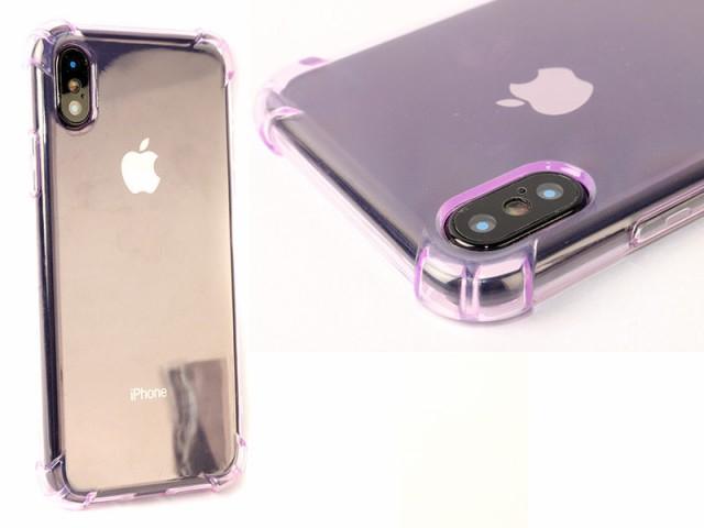 Apple iPhone X用 クッション TPUソフトケースカ...