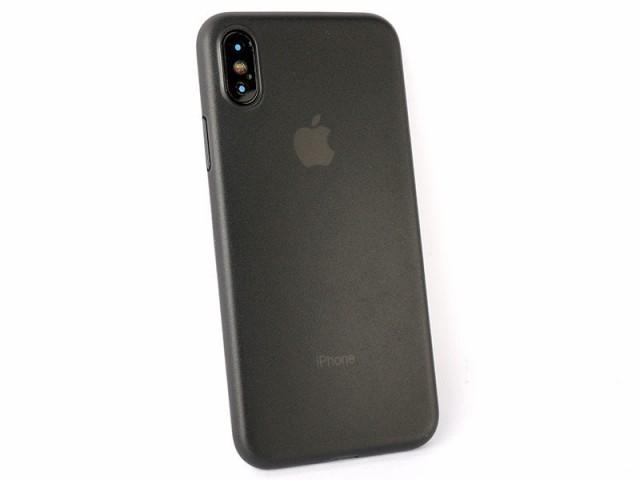 Apple iPhone X用 超薄スリム マットタイプ 保護...