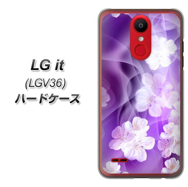 au LG it LGV36 ハードケース / カバー【1211 桜...