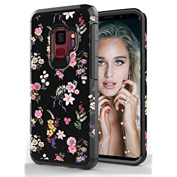 ShinyMax Galaxy S9 Case with Flowers Design S...