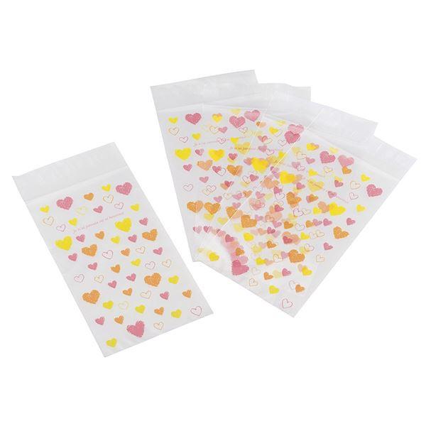 (まとめ)貝印 kai House SELECT プレゼントにぴったりなスイーツパック ハート大 5枚入り DL-6386 (ラッピング袋) 〔×3セット〕