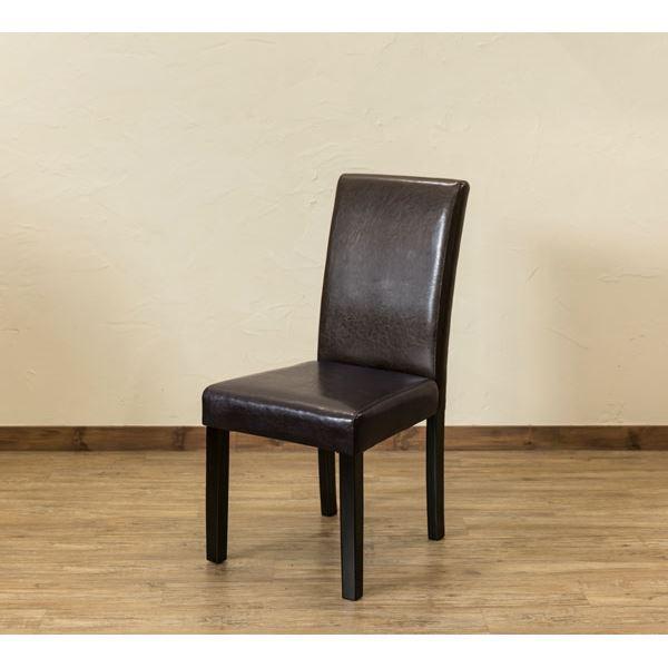 〔アウトレット品〕 PUダイニングチェア/食卓椅子...