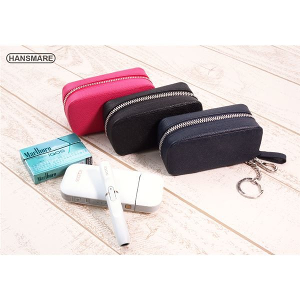HANSMARE iQOS LEATHER CASE ネイビー 〔送料無料...