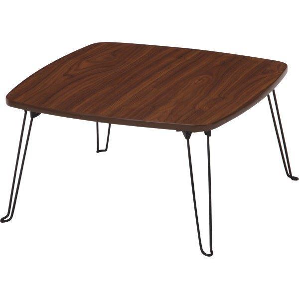 北欧風 ローテーブル/コーヒーテーブル 〔四角型 ...