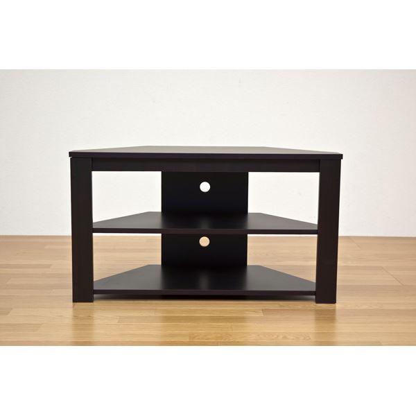 コーナーテレビ台/テレビボード 〔幅80cm/20型〜3...