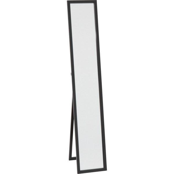 木製スタンドミラー/全身姿見鏡 【ブラック】 幅2...