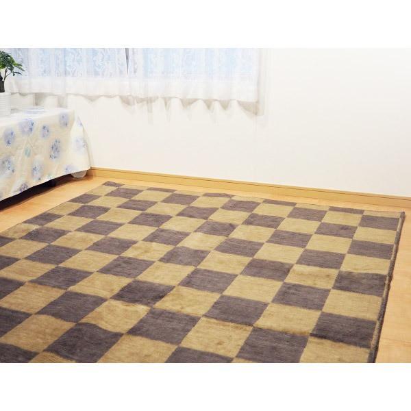 純国産カーペット モナコ 約6畳 約261x352cm ブラ...
