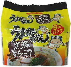 うまかっちゃん 鹿児島黒豚とんこつ 5食パック×2...