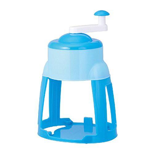 ドウシシャ 氷かき器 手動 製氷カップ付き ブルー...