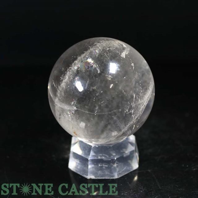 ☆置石一点物☆【天然石 置き石】丸玉 水晶 (3A) ...