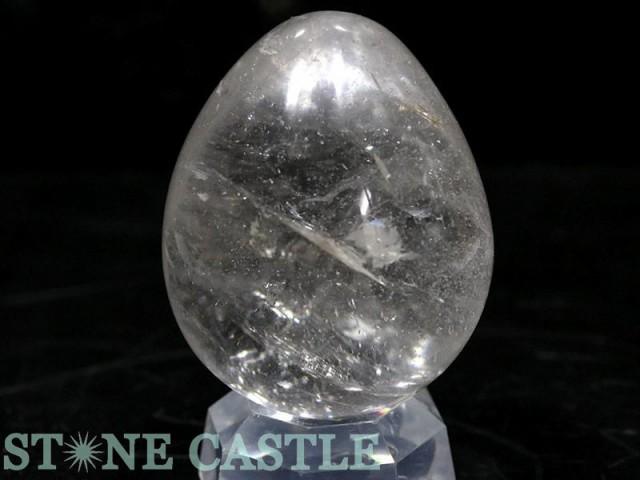 ☆置石一点物☆【天然石 置き石】たまご型 水晶 N...
