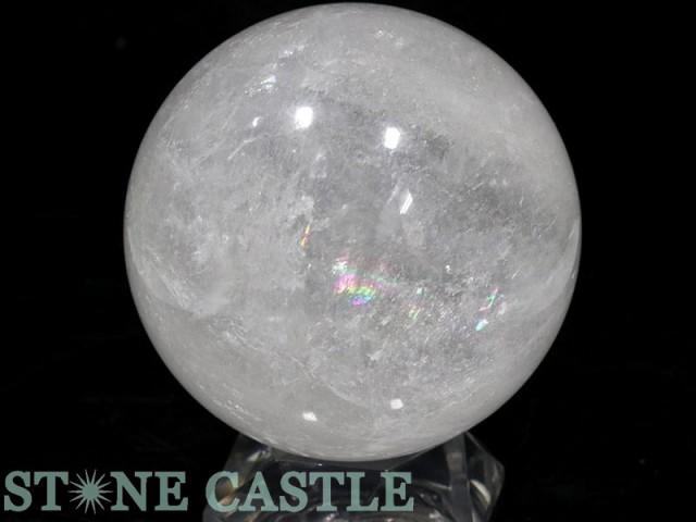 ☆置石一点物☆【天然石 置き石】丸玉 水晶 約102...