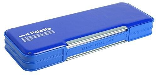三菱鉛筆 筆箱 ユニパレット 両開き 青 P1000BT30...