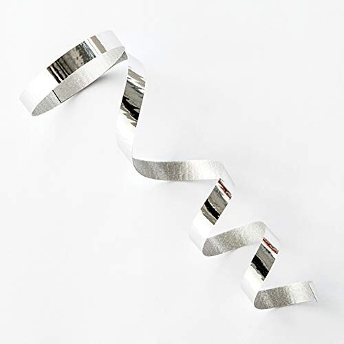 カーリングリボン メタリックカラー 銀 5mm幅×10...