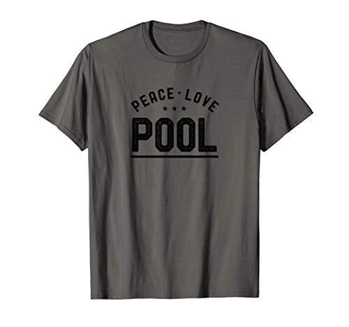Peace Love Pool Vintage Pool Player Tシャツ