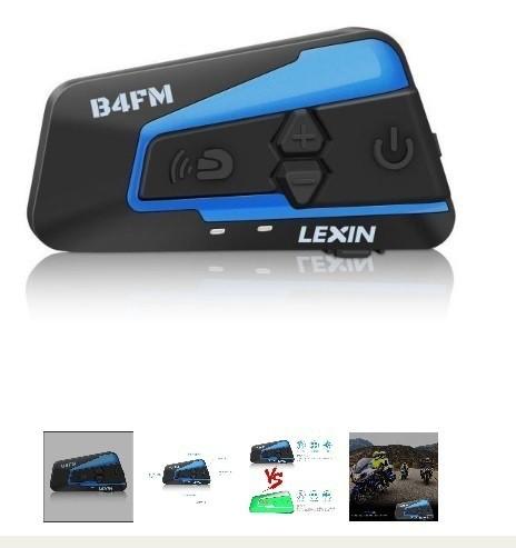 ●送料無料●LEXIN LX-B4FM 4人同時通話 バイクイ...