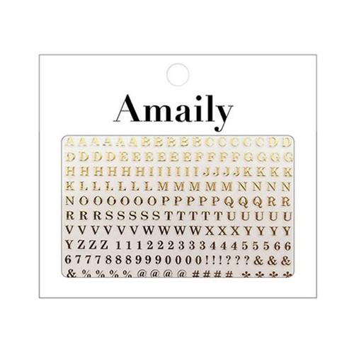 Amaily ネイルシール NO.4-8 アルファベット 大G ...