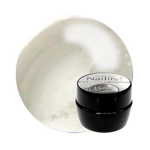 Naility! メタリックジェル M01 シルバー 4g 【UV...